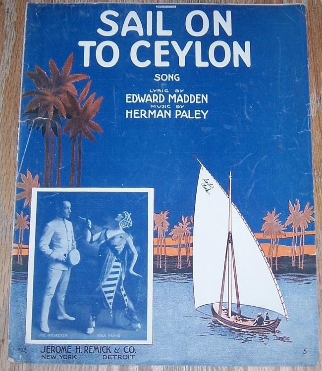 Image for SAIL ON TO CEYLON SONG
