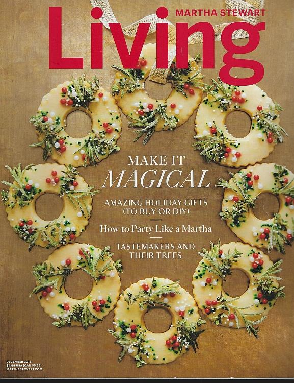 Image for MARTHA STEWART LIVING MAGAZINE DECEMBER 2018
