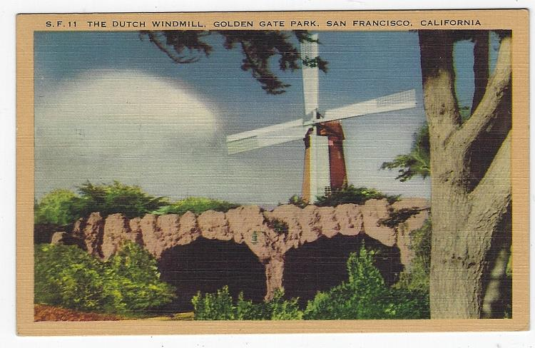 Image for DUTCH WINDMILL, GOLDEN GATE PARK, SAN FRANCISCO, CALIFORNIA