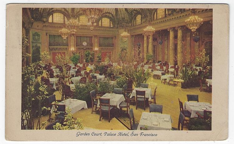 Image for GARDEN COURT, PALACE HOTEL, SAN FRANCISCO, CALIFORNIA