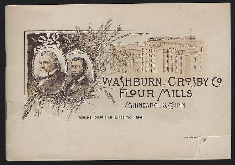 Image for WASHBURN, CROSBY CO., FLOUR MILLS WORLD'S COLUMBIAN EXPOSITION ADVERTISING BOOKLET