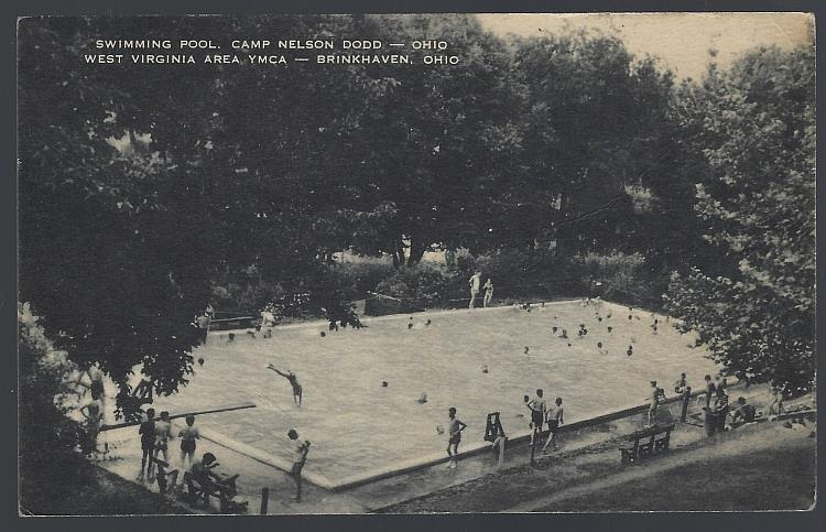 Image for SWIMMING POOL, CAMP NELSON DODD, OHIO WEST VIRGINIA AREA YMCA BRINKHAVEN, OHIO