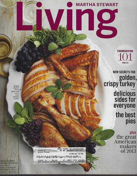 Image for MARTHA STEWART LIVING MAGAZINE NOVEMBER 2013