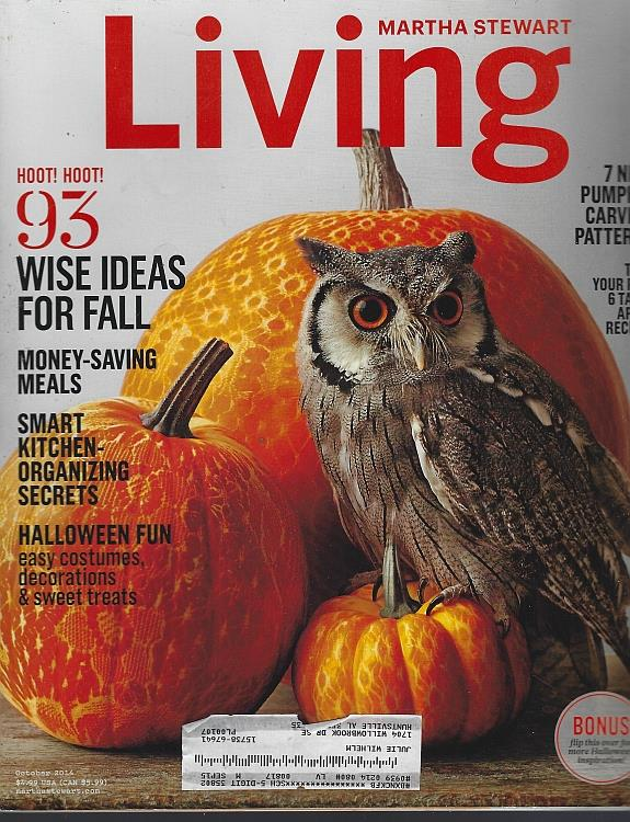 Image for MARTHA STEWART LIVING MAGAZINE OCTOBER 2014