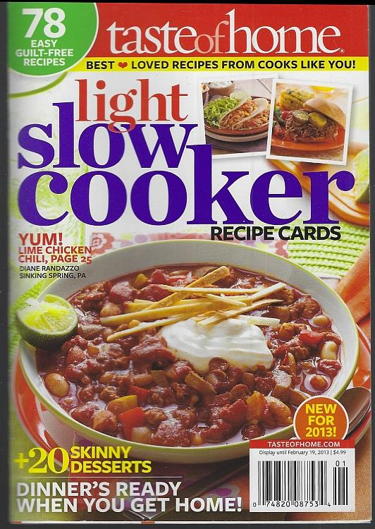 Image for LIGHT SLOW COOKER RECIPE CARDS