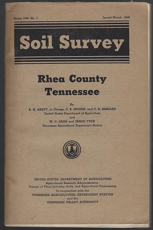 Image for SOIL SURVEY, RHEA COUNTY TENNESSEE March 1948