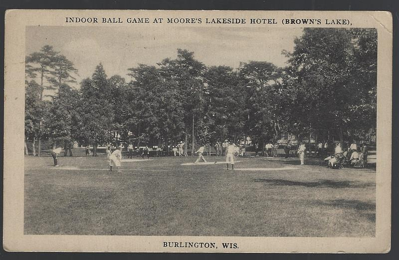 Image for INDOOR BALL GAME AT MOORE'S LAKESIDE HOTEL, BROWN'S LAKE, BURLINGTON, WISCONSIN