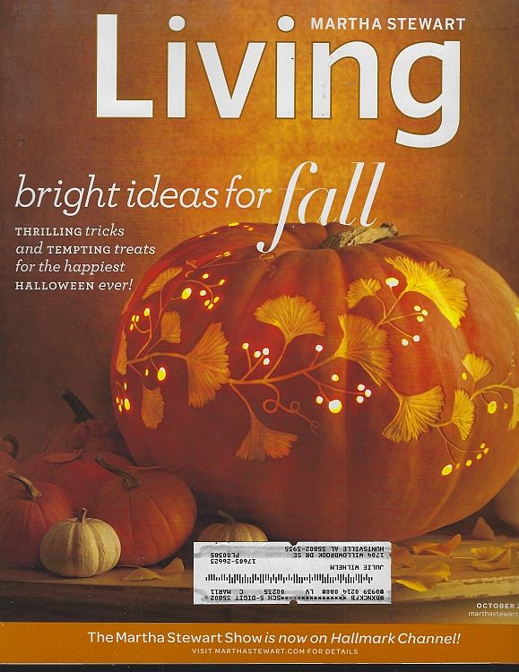 Image for MARTHA STEWART LIVING MAGAZINE OCTOBER 2010