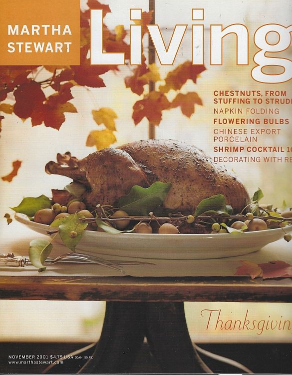 Image for MARTHA STEWART LIVING MAGAZINE NOVEMBER 2001
