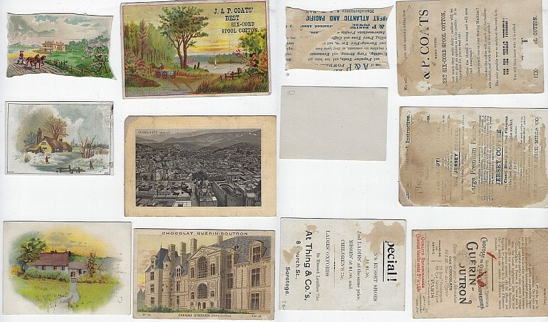 Image for LOT OF SIX SCRAP VICTORIAN TRADE CARDS FEATURING BUILDINGS