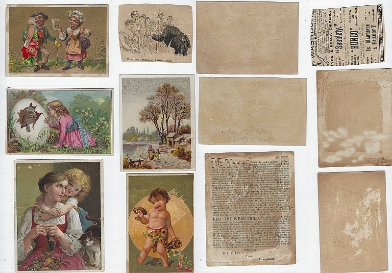 Image for LOT OF SIX SCRAP VICTORIAN TRADE CARDS CHILDREN, MY MAMA