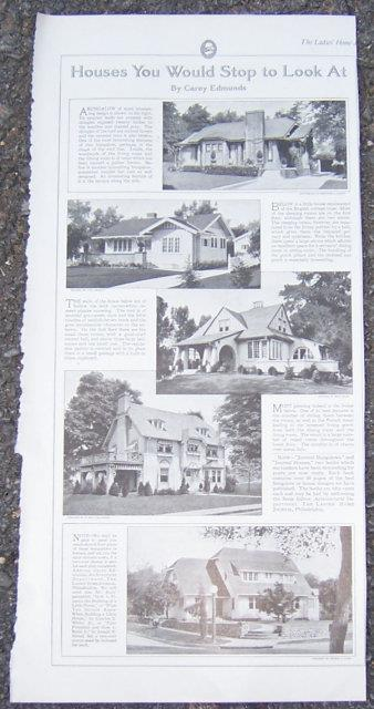 Image for 1916 LADIES HOME JOURNAL HOUSES YOU WOULD STOP TO LOOK AT BY CASEY EDMUNDS