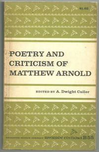 Image for POETRY AND CRITICISM OF MATTHEW ARNOLD