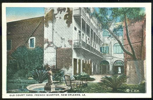 Image for OLD COURT YARD, FRENCH QUARTER, NEW ORLEANS, LOUISIANA