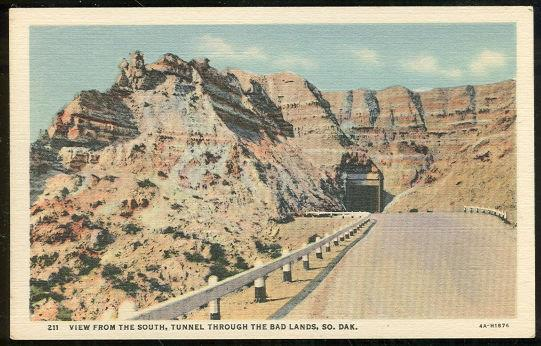 Image for VIEW FROM THE SOUTH TUNNEL THROUGH THE BAD LANDS, SOUTH DAKOTA