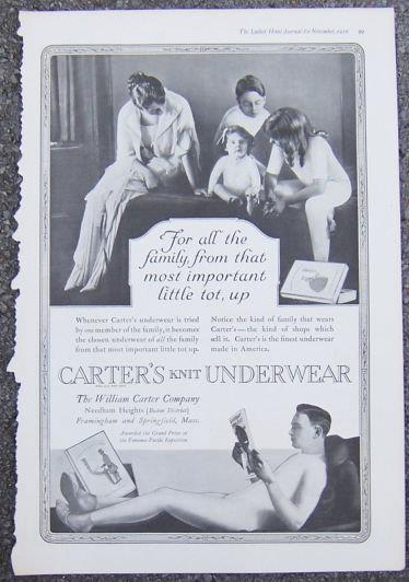Image for 1916 LADIES HOME JOURNAL CARTER'S KNIT UNDERWEAR ADVERTISEMENT