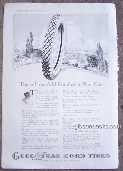 Image for 1916 MAGAZINE ADVERTISEMENT FOR GOODYEAR CORD TIRES