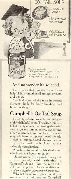Image for 1916 LADIES HOME JOURNAL CAMPBELL'S OX TAIL SOUP MAGAZINE ADVERTISEMENT