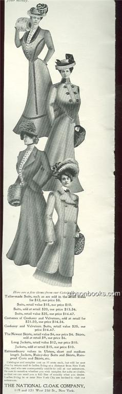 Image for 1901 LADIES HOME JOURNAL NATIONAL CLOAK COMPANY MAGAZINE ADVERTISEMENT