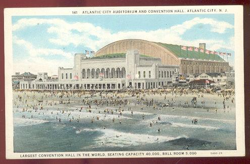 Image for ATLANTIC CITY AUDITORIUM AND CONVENTION HALL, ATLANTIC CITY, NEW JERSEY