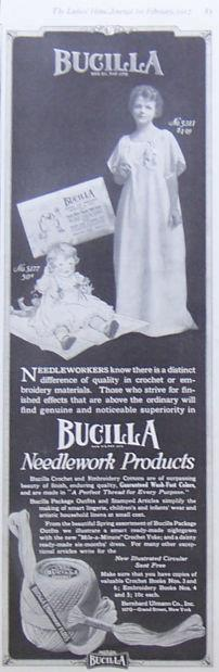 Image for 1917 LADIES HOME JOURNAL BUCILLA NEEDLEWORK PRODUCTS MAGAZINE ADVERTISEMENT
