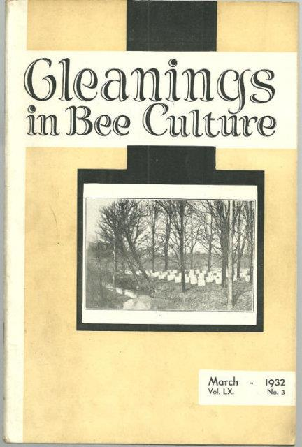 Image for GLEANINGS IN BEE CULTURE MARCH 1932