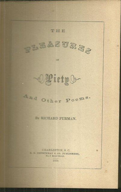 Image for PLEASURES OF PIETY AND OTHER POEMS