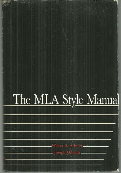 Image for MLA STYLE MANUAL