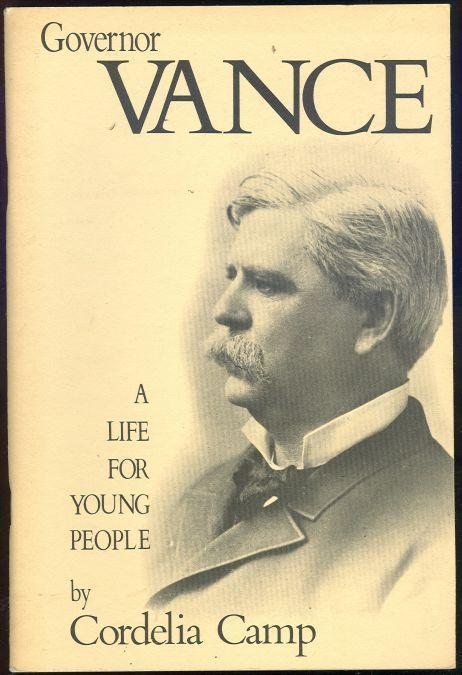 Image for GOVERNOR VANCE A Life for Young People