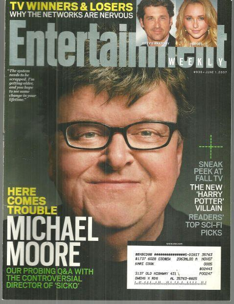 Image for ENTERTAINMENT WEEKLY MAGAZINE JUNE 1, 2007