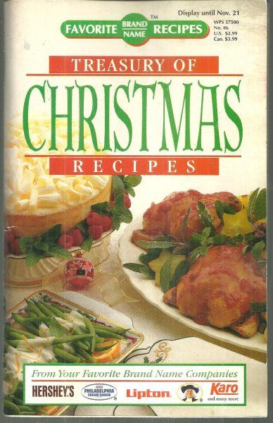 Image for TREASURY OF CHRISTMAS RECIPES From Your Favorite Brand Name Companies