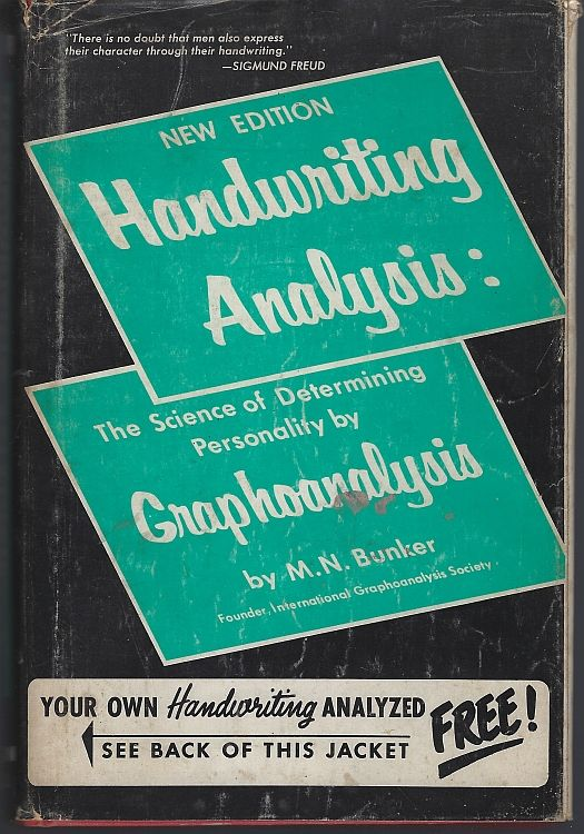 Image for HANDWRITING ANALYSIS The Art and Science of Reading Character by Grapho Analysis