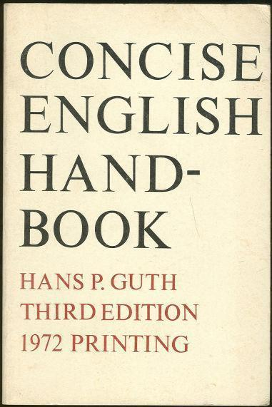 Image for CONCISE ENGLISH HANDBOOK