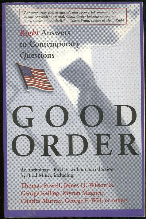 Image for GOOD ORDER Right Answers to Contemporary Questions
