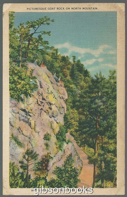 Image for PICTURESQUE GOAT ROCK ON NORTH MOUNTAIN, HOT SPRINGS NATIONAL PARK, ARKANSAS