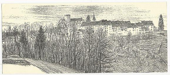 Image for OVERSIZE POSTCARD REGENSBERG GASTHOF KRONE, SWITZERLAND