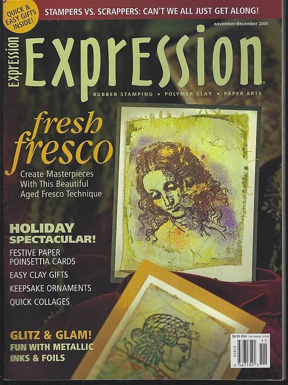 Image for EXPRESSION ART MAGAZINE NOVEMBER/DECEMBER 2005 Rubber Stamps, Polymer Clay, Paper Arts