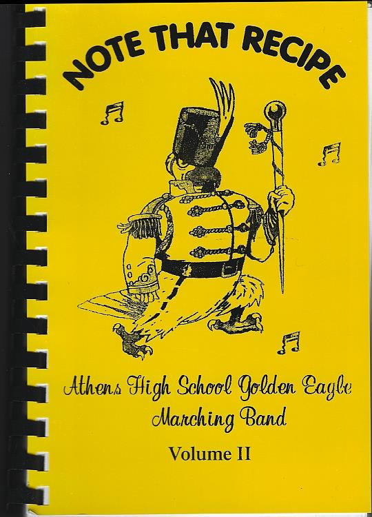 Image for NOTE THAT RECIPE Athens High School Golden Eagle Marching Band Volume II